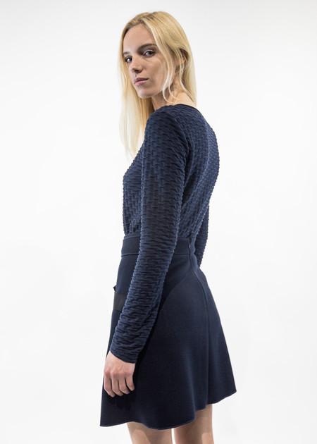 Carven Long-Sleeve Jacquard Jersey T-Shirt