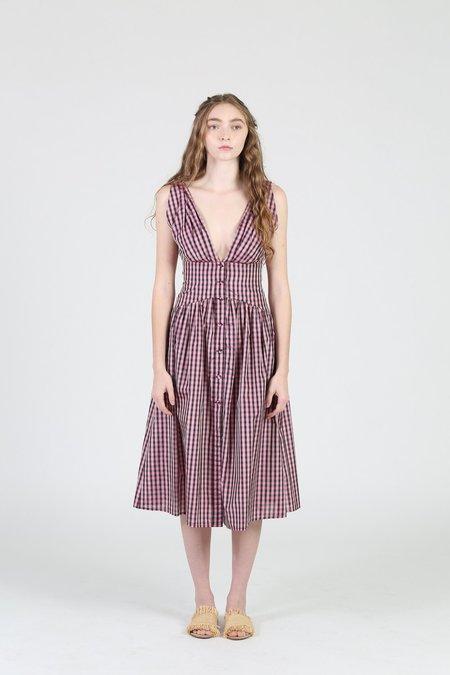Philosophy Di Lorenzo Serafini Vichy Taffetta Dress - gingham print
