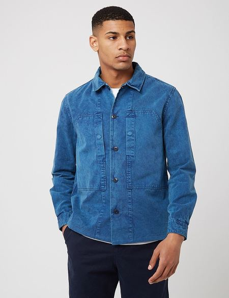 Barbour Loweswater Overshirt - Navy Blue