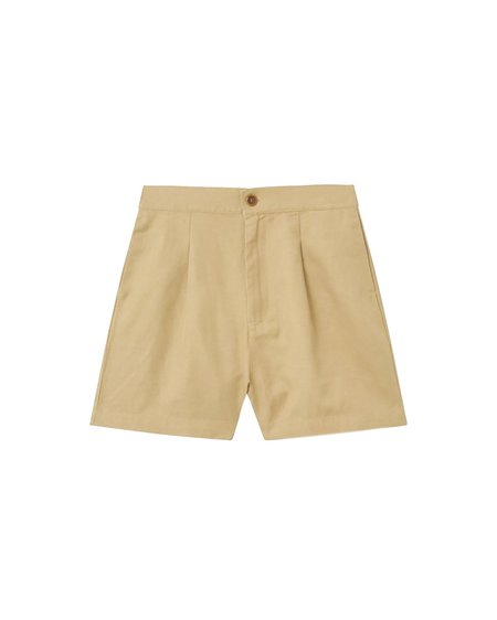 Thinking MU Narciso Hemp Shorts - Camel