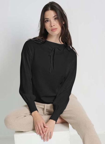 Minnie Rose Tie Front Pullover