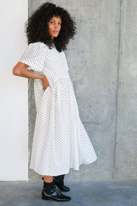 Toit Volant Spring Garden Dress - Black/White
