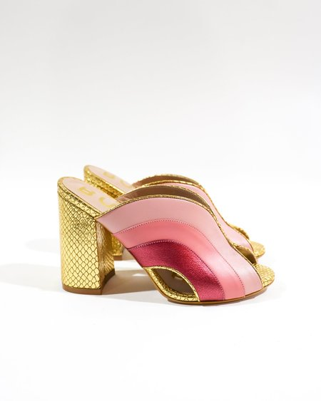 [Pre-loved] BUTRICH The Ginger Mules - Gold/Light Pink