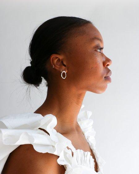 [Pre-loved] Zara Malikova The Triangle Earrings - Silver