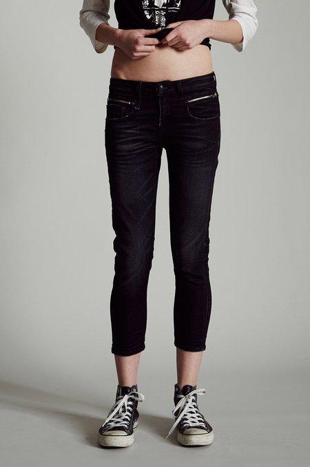 R13 Biker Boy Jeans - Stardust Black
