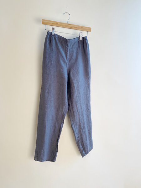 flax Pocketed Ankle Pants - Castlerock