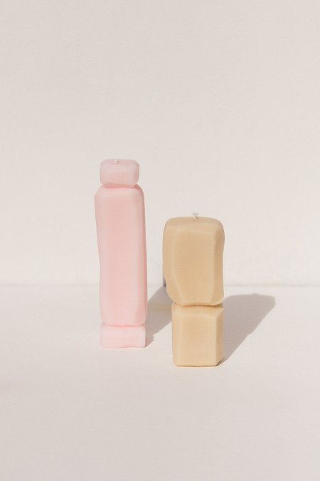 Natascha Madeiski Candle Duo - Pink & Beige