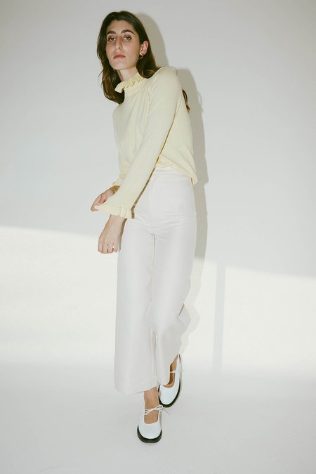 Muse the Label Maude Frill Neck Knit - Butter