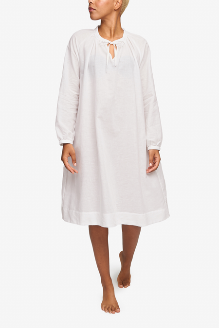 The Sleep Shirt Gathered Neck Dress - Milano Featherweight Blend