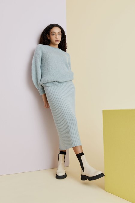 hej hej Heart Sleeves Knit sweater - Seafoam