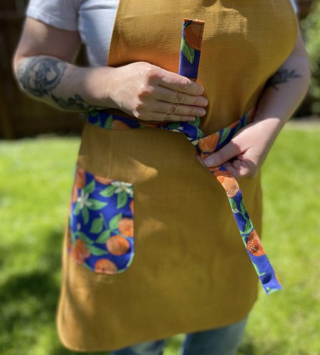 Sloane Boutique Ivy Costa Apron - Citrus