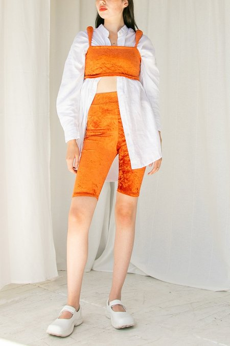 No Wallflower Project Riding Shorts - Burnt Orange