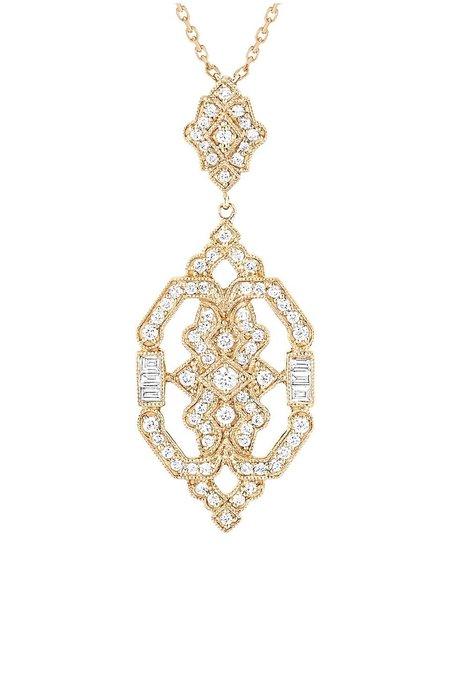 Stone Paris Garbo Necklace - Yellow Gold/Diamonds