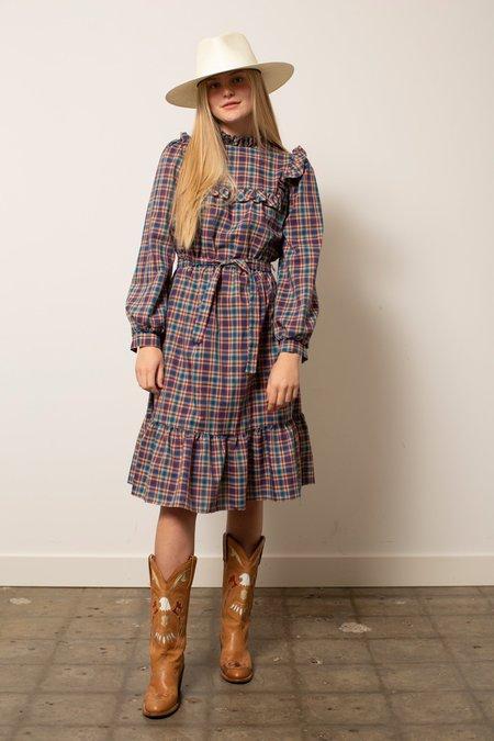 Vintage Prairie Dress - Plaid