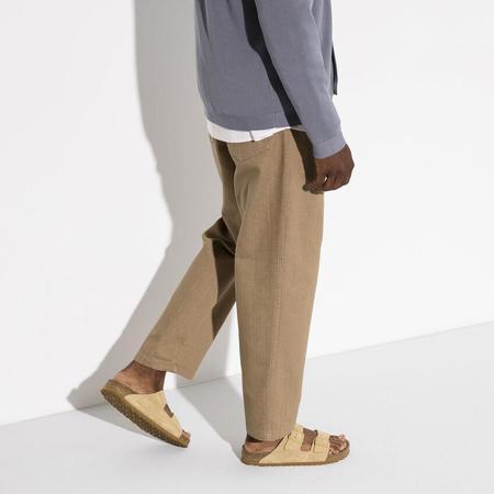 unisex Birkenstock Arizona Soft Footbed Suede Leather REGULAR shoes - Latte Cream
