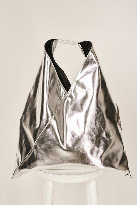 MM6 Maison Margiela Japanese Eco Leather Tote Bag - Silver