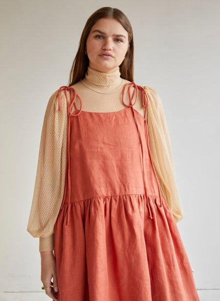 Eliza Faulkner Linen Tig Dress - Terracotta