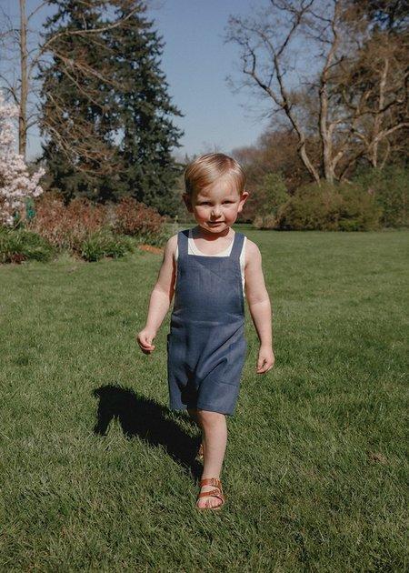 kids unisex Petits Vilains Gabriel Short Overalls - Navy