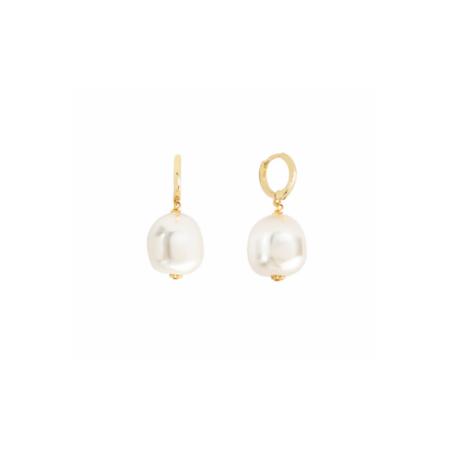 Shashi Bella Pearl Huggie earrings - 18k Gold Plate