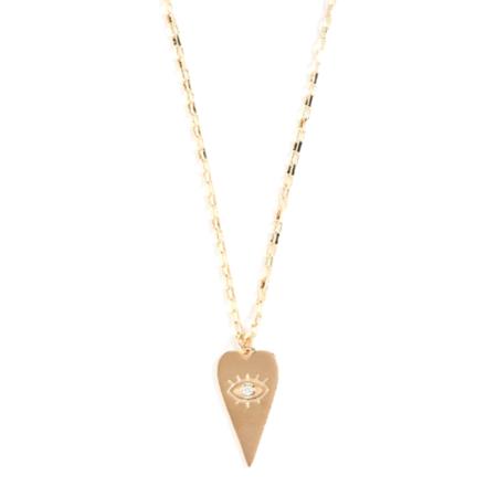 Shashi Eye Love You Necklace - 18k Gold Plate