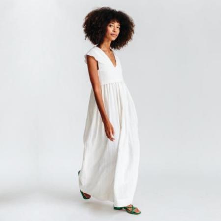 Mirth Zanzibar Dress - White