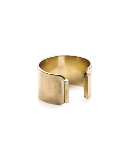 By Boe Wide Plate ring Band