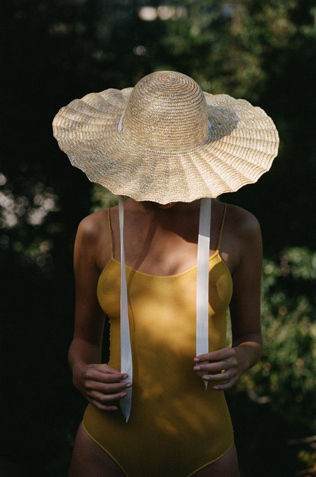 Lack of Color scalloped dolce hat - natural