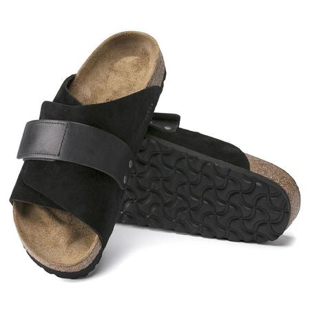 Birkenstock Kyoto Oiled Leather/Suede Leather shoes - Black