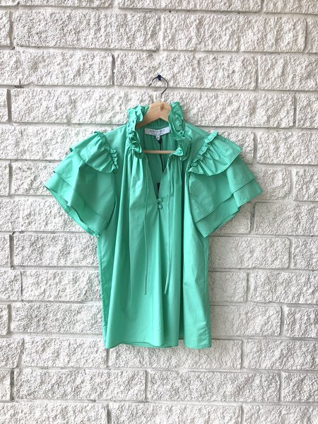 Hunter Bell MILLIE TOP - EMERALD
