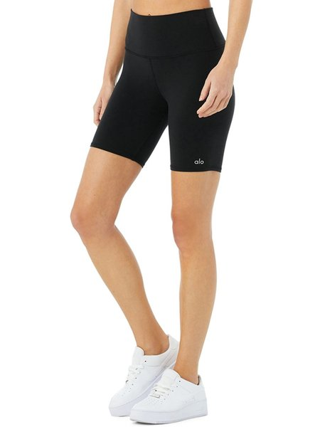 ALO High-Waist Biker Short - Black