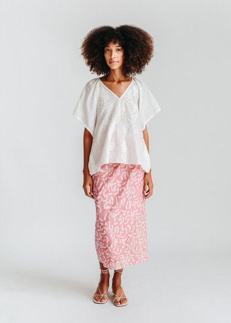 mirth caftans Bali Top - white
