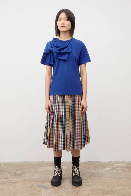 Kowtow Knotted Tee - Bright Blue