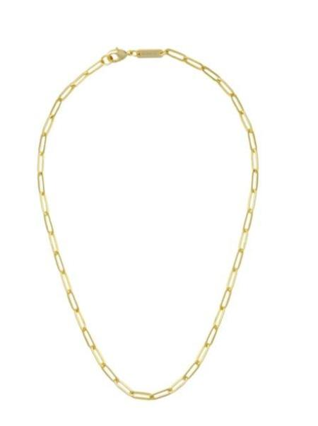 Machete Petite Paperclip Chain Necklace - 14k gold plated