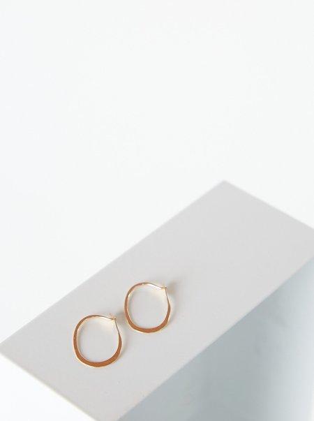 Vintage Hoop Earrings - 14K Gold