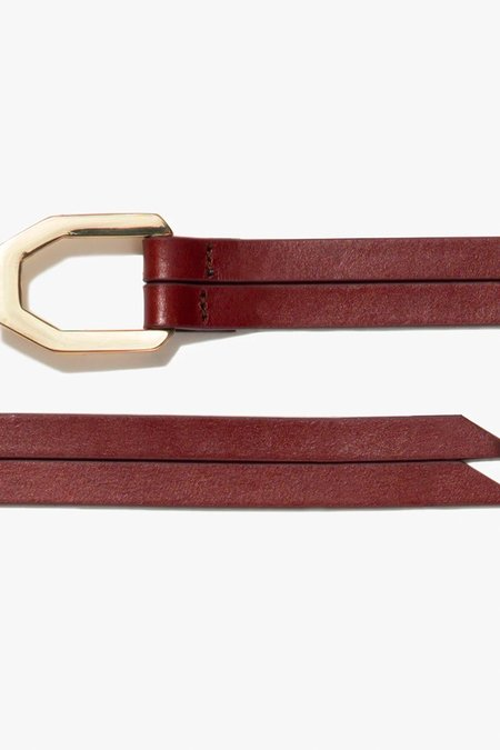 FRAME Denim Le Polygon Wrap Tie Belt - Saddle