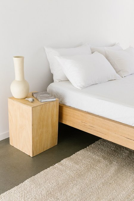 Pampa Linen Fitted Sheet - White