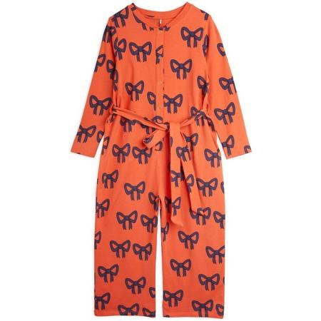 kids mini rodini bow allover baby jumpsuit - red