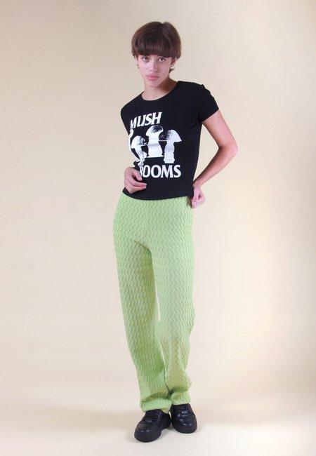 unisex Perks and Mini Sisi Mush Rooms Ribbed T-Shirt - black