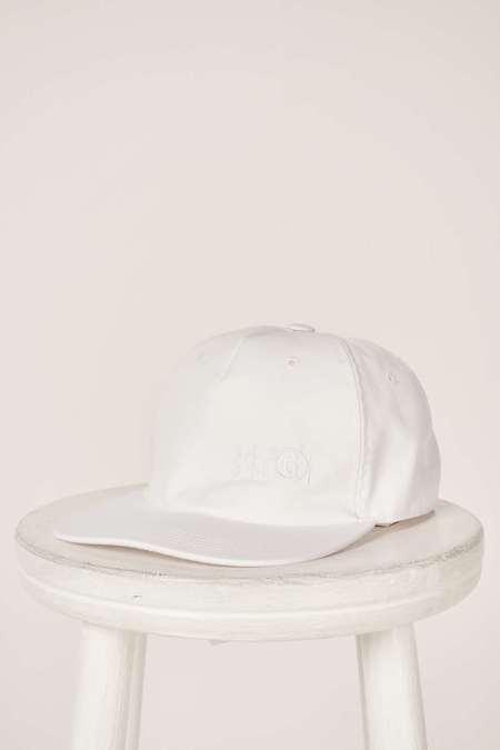 MM6 Maison Margiela Six-Panel Construction Cap - White