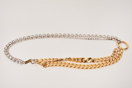 MM6 Maison Margiela Crystal Chain Necklace - Silver/Gold