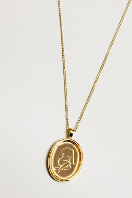 Wolf Circus Femme Necklace - Gold