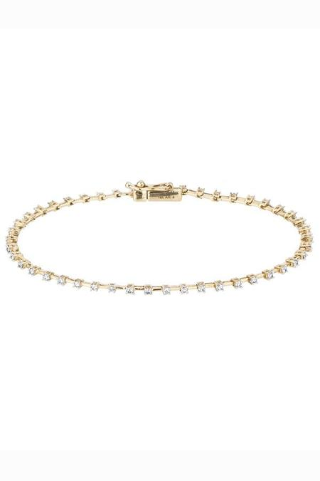 Adina Reyter Diamond Station Tennis Bracelet - Yellow Gold