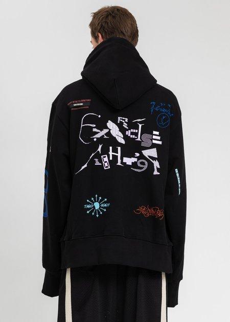 NAMESAKE Sava Oversized Drawcord Hoodie - Black