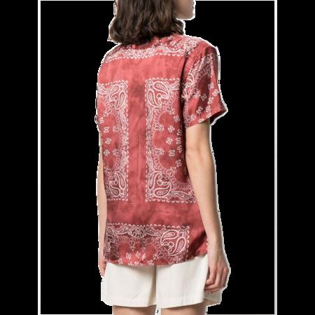 Golden Goose Clarissa Pijama Patch Pocket Shirt - Orient Red/White