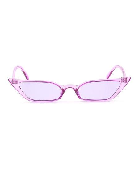 PERSONS Narrow Cat Eye Sunglasses - Lilac