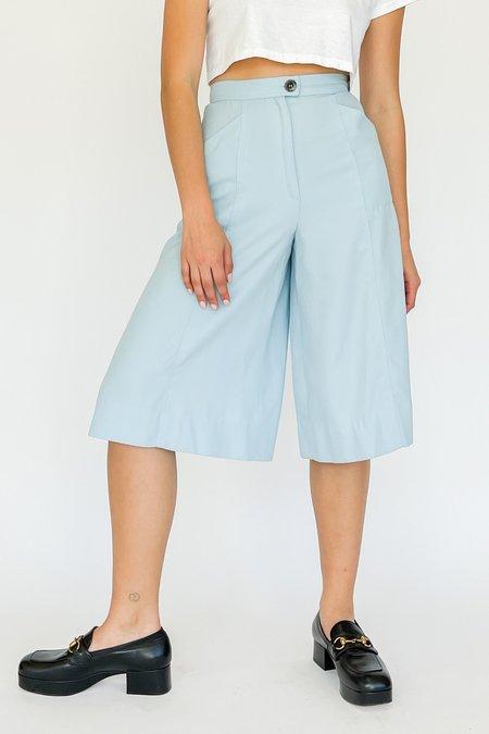 Vintage High Rise Culottes pants - Baby Blue