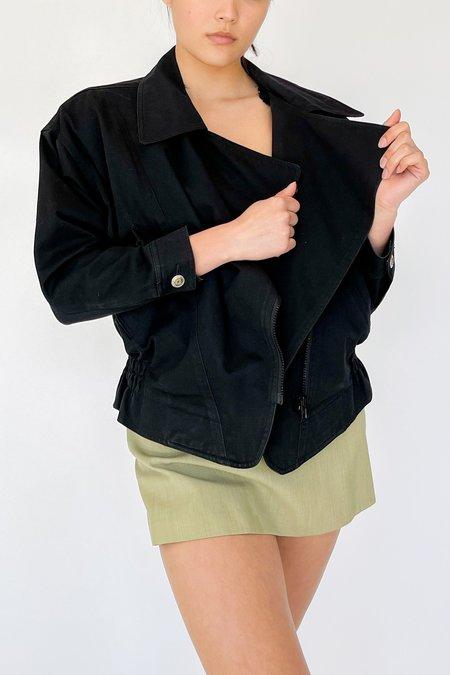 Vintage Denim Structural Jacket - black