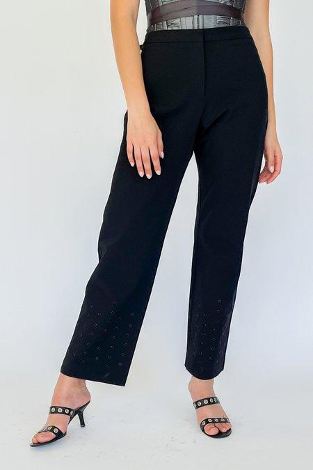 Vintage Perforated Pants - black