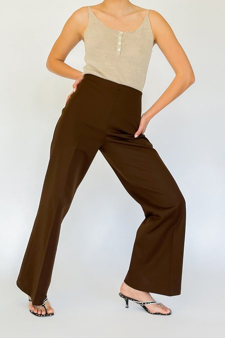 Vintage High Rise Baby Flare Pants - Cocoa