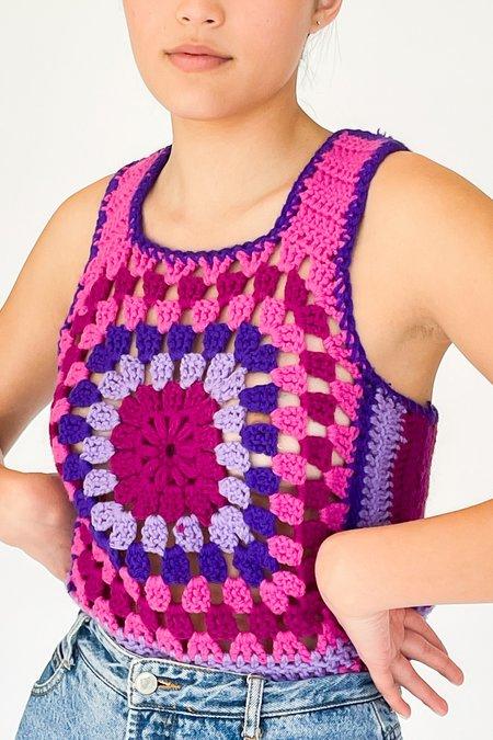 Vintage Crochet Knit Sweater